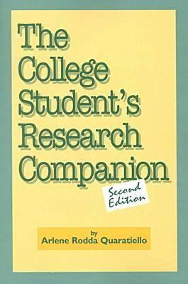 The College Student's Research Companion, Quaratiello, Arlene Rodda