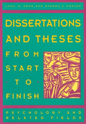 Image for Dissertations and Theses from Start to Finish: Psychology and Related Fields