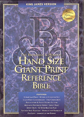 Image for Hand Size Giant Print Reference Holy Bible: King James Version Burgandy Bonded Leather