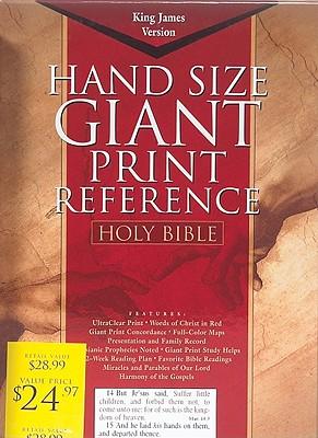 KJV Giant Print Reference Bible, Black Genuine Leather Indexed (King James Version)