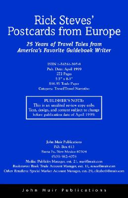 Image for Rick Steves Postcards from Europe : 25 Years of Travel Tales from Americas Favorite Guidebook Writer
