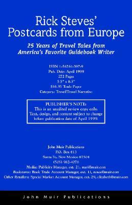 Rick Steves Postcards from Europe : 25 Years of Travel Tales from Americas Favorite Guidebook Writer, RICK STEVES