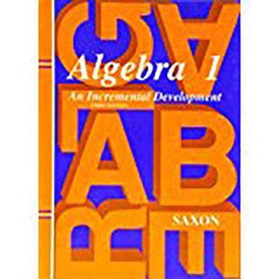Image for Saxon Algebra 1 Student Edition, 3rd Edition