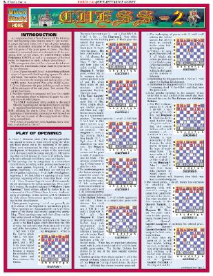 Chess 2 Laminated Reference Guide (Quickstudy: Home)