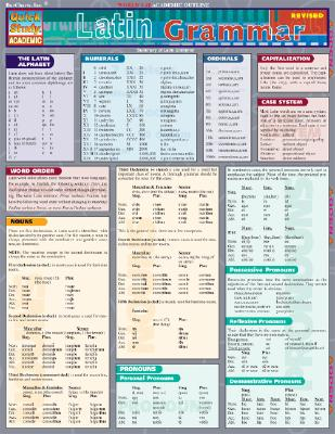 Image for Latin Grammar (Quick Study Academic)