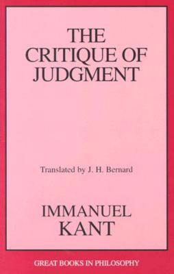 Image for The Critique of Judgment (Great Books in Philosophy)