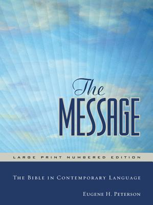 Image for The Message Large Print Numbered Edition
