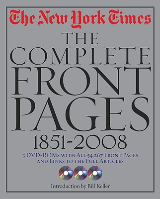 Image for New York Times: The Complete Front Pages: 1851-2008