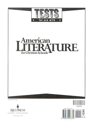 Image for American Literature Tests for Christian Schools