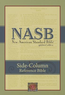 Image for NASB Side-Column Reference Wide Margin Bible; Black Leathertex