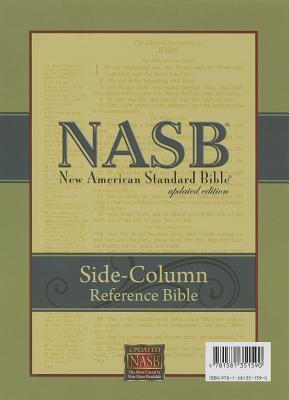 Image for NASB Side-Column Reference Wide Margin Bible; Black Genuine Leather