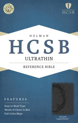 Image for o/p HCSB Ultrathin Reference Bible, Charcoal LeatherTouch
