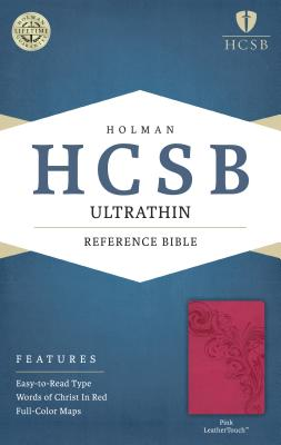 Image for HCSB Ultrathin Reference Bible, Pink LeatherTouch