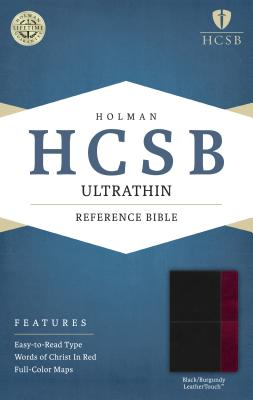 Image for HCSB Ultrathin Reference Bible, Black/Burgundy LeatherTouch