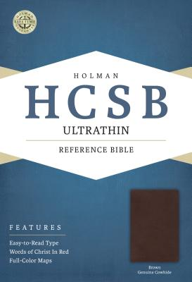 Image for HCSB Ultrathin Reference Bible, Brown Genuine Cowhide