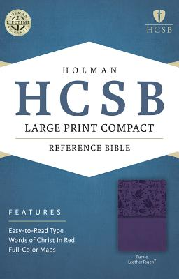 Image for HCSB Large Print Compact Bible, Purple LeatherTouch