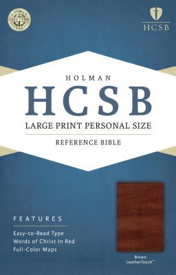 Image for HCSB Large Print Personal Size Bible, Brown LeatherTouch