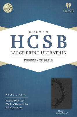 Image for HCSB Large Print Ultrathin Reference Bible, Charcoal LeatherTouch