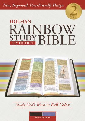 Image for Holman Rainbow Study Bible: KJV Edition, Brown/Lavender LeatherTouch