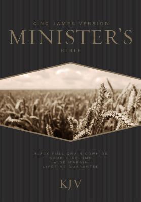 Image for KJV Minister's Bible, Black Genuine Cowhide