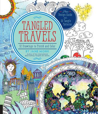 Image for Tangled Travels: 52 Drawings to Finish and Color (Tangled Color and Draw)