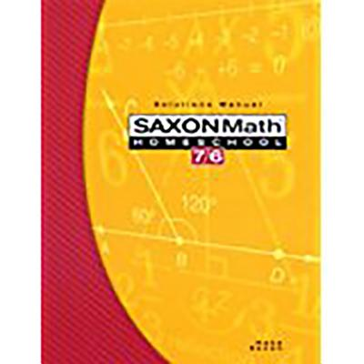 Image for Saxon Math 7/6, Homeschool Edition: Solutions Manual