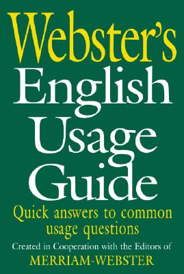 Image for Webster's English Usage Guide