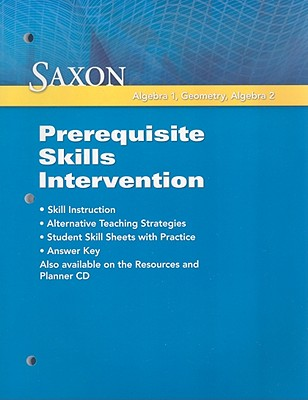 Image for Saxon Math: Prerequisite Skill Intervention 2009