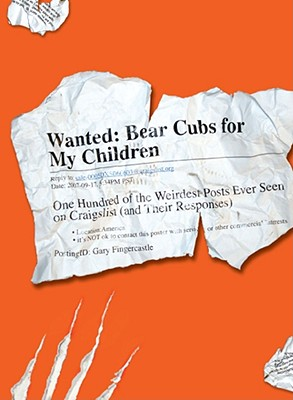WANTED : BEAR CUBS FOR MY CHILDREN : ONE, GARY FINGERCASTLE