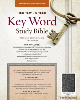 "Image for ""''ESV Hebrew-Greek Key Word Study Bible, bonded leather, black-index''"""