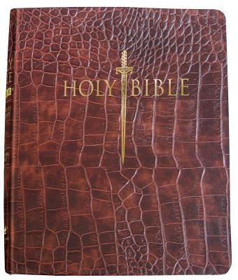 Image for KJV Sword Study Bible/Giant Print-Walnut Alligator Bonded Leather