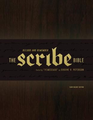 "Image for ""The Scribe Bible: Featuring The Message by Eugene H. Peterson, Dark Walnut"""