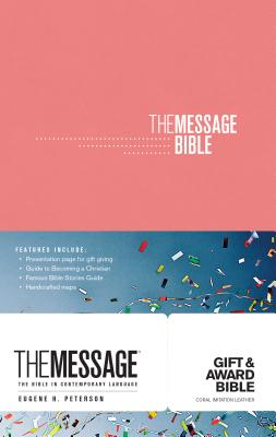 "Image for ""The Message Gift and Award Bible, Imitation Leather, Coral"""