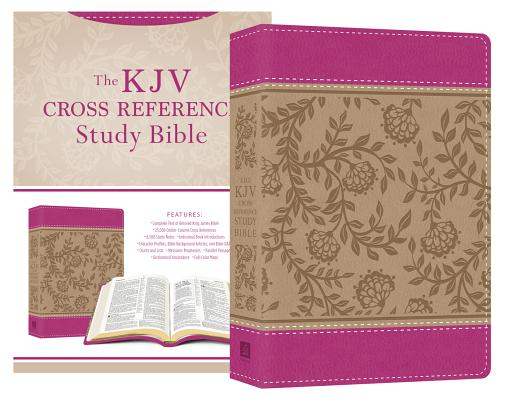 """Image for """"''KJV Cross Reference Study Bible Compact, Imitation Leather, Pink Blossoms''"""""""