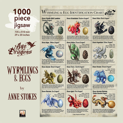 Image for Adult Jigsaw Puzzle Anne Stokes: Wyrmlings & Eggs: 1000-piece Jigsaw Puzzles (1000-piece jigsaws)