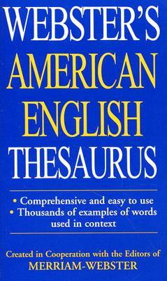Image for WEBSTER'S AMERICAN ENGLICH THESAURUS