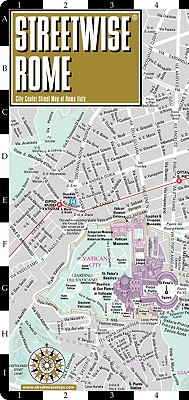 Streetwise Rome Map - Laminated City Street Map Of, Brown, Michael
