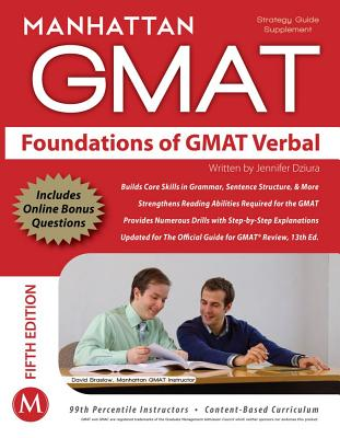 Image for Foundations of GMAT Verbal