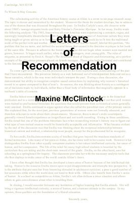 Letters of Recommendation, McClintock, Maxine