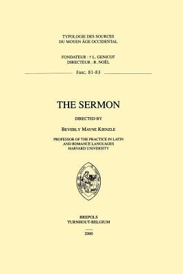 Image for The Sermon (Typologie Des Sources Du Moyen Age Occidental) (English and French Edition)
