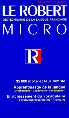 Image for Robert Micro: Dictionnaire De La Langue Francaise Edition Poche