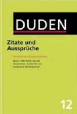 Image for Duden: Zitate Und Ausspruche