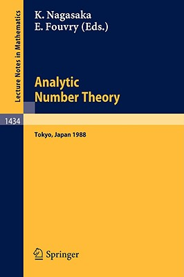 Image for Analytic Number Theory: Proceedings of the Japanese-French Symposium held in Tokyo, Japan, October 10-13, 1988 (Lecture Notes in Mathematics)