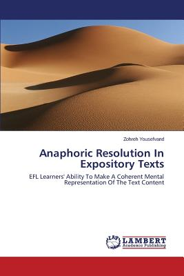 Anaphoric Resolution In Expository Texts, Yousefvand Zohreh