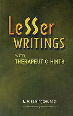 Image for Lesser Writings With Therapeutic Hints