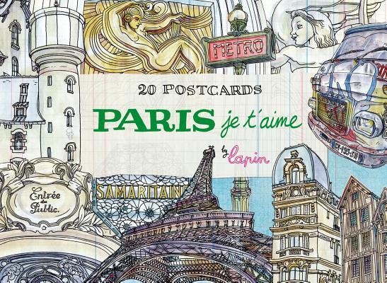 Image for Paris, je t'aime: 20 Postcards Book