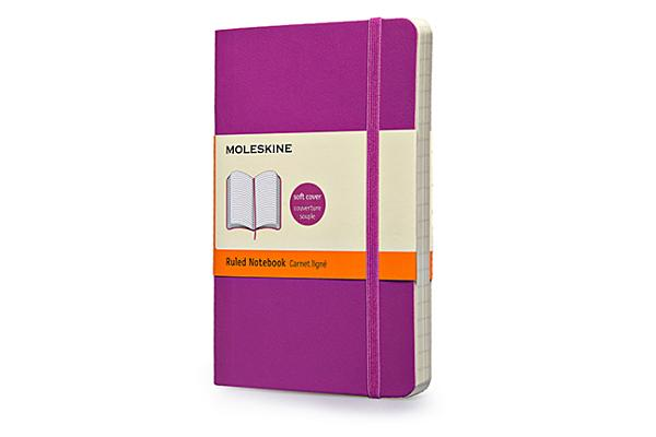 Image for Moleskine Classic Colored Notebook, Pocket, Ruled, Orchid Purple, Soft Cover (3.5 x 5.5)