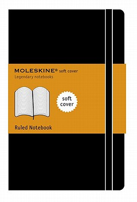 Moleskine Classic Notebook, Large, Ruled, Black, Soft Cover (5 x 8.25) (Classic Notebooks), Moleskine